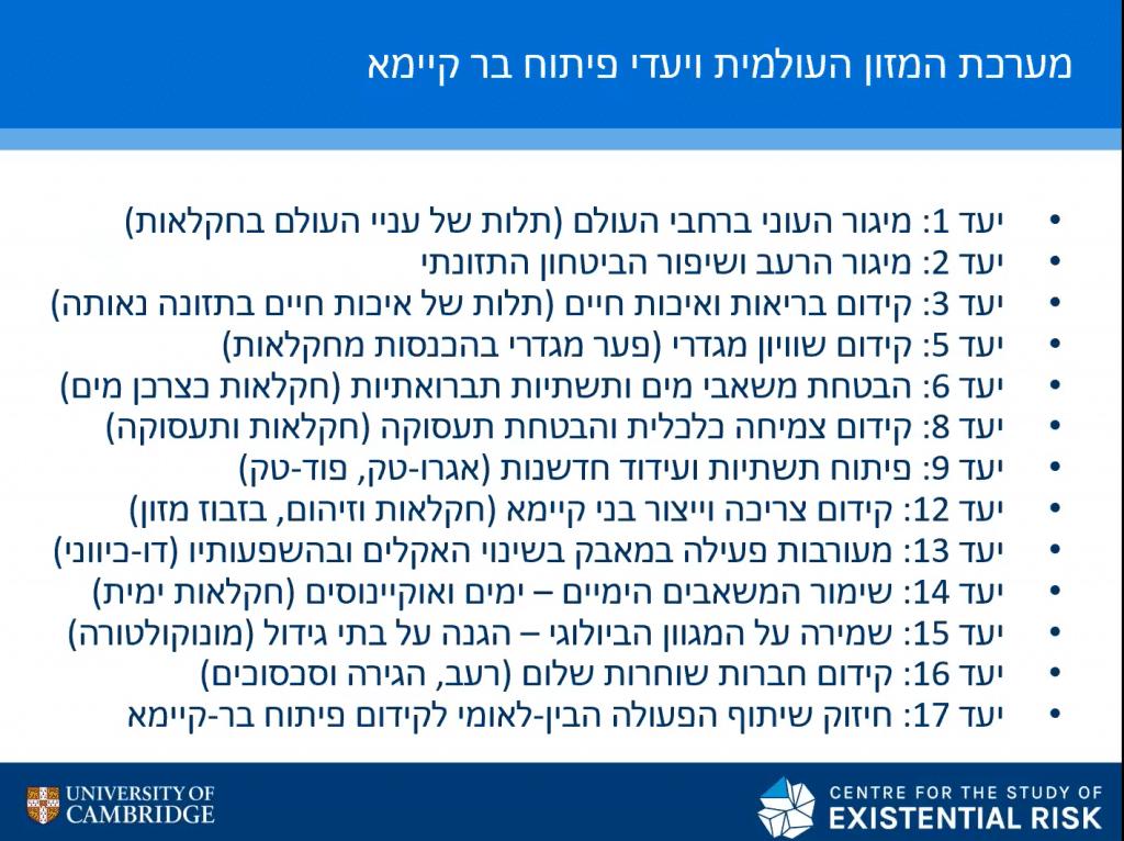 אסף צחור קהילת SDG ישראל